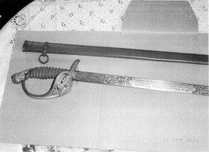 Saber and scabbard