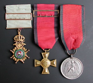 Guelphic Order, William Cross, Waterloo Medal